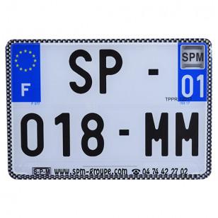 BORDURE/LISERET POUR PLAQUE IMMAT. NR SPM 210X130 (X10) - CARBONE ATELIER sur le site du spécialiste des deux roues O-TAKET.COM