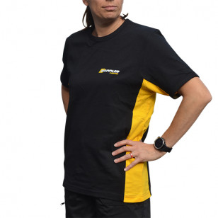 TEE-SHIRT DOPPLER - TAILLE L BANDES LATERALES JAUNES