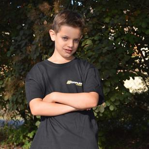 TEE-SHIRT DOPPLER TAILLE 12/14 ANS TOUT NOIR Vêtements divers sur le site du spécialiste des deux roues O-TAKET.COM