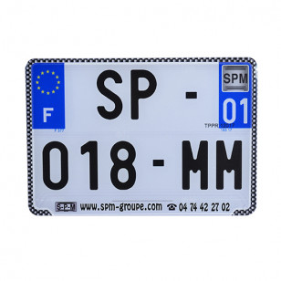 BORDURE/LISERET POUR PLAQUE IMMAT. NR SPM 210X145 (X10) - CHROME ATELIER sur le site du spécialiste des deux roues O-TAKET.COM