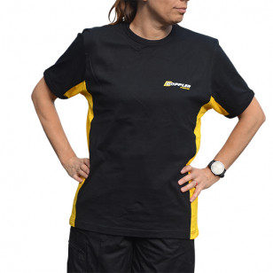 TEE-SHIRT DOPPLER - TAILLE M BANDES LATERALES JAUNES