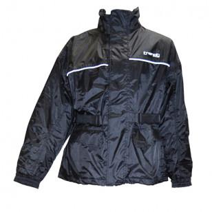 VESTE PLUIE TRENDY AVEC DOUBLURE NOIR S Vêtements pluie sur le site du spécialiste des deux roues O-TAKET.COM