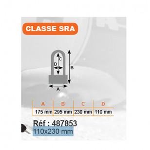 ANTIVOL U RANGERS 110X230 - CLASSE SRA ÉQUIPEMENTS sur le site du spécialiste des deux roues O-TAKET.COM