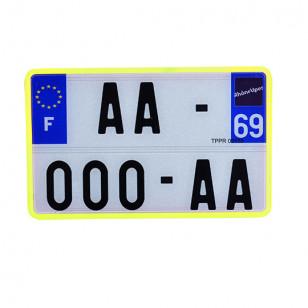 BORDURE/LISERET POUR PLAQUE IMMAT. NR SPM 210X130 (X10) - JAUNE ATELIER sur le site du spécialiste des deux roues O-TAKET.COM