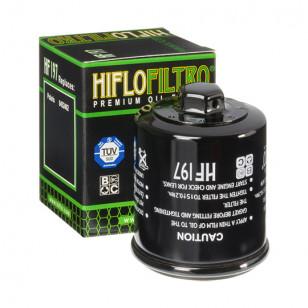 FILTRE A HUILE MAXI SCOOTER / MOTO HIFLOFILTRO HF197 ADAPT. PGO / HYOSUNG Filtres à huile sur le site du spécialiste des deux...