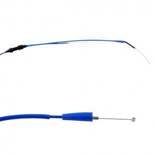 TRANSMISSION / CABLE GAZ MOTO DOPPLER TEFLON ADAPT. DERBI SENDA 2000-2006 EURO2 BLEU Câbles et Transmissions sur le site du s...