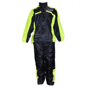 VESTE + PANTALON PLUIE TRENDY NOIR / JAUNE FLUO (ENSEMBLE 2 PIECES) TAILLE L Vêtements pluie sur le site du spécialiste des d...