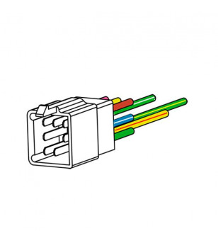 COMMODO/COMMUTATEUR DROIT TEKNIX COMPLET ADAPT. KYMCO AGILITY 04- 2ET 4 TEMPS/125/SUPER 8