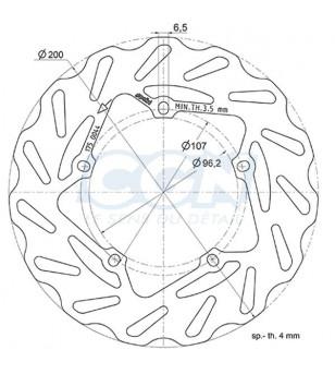 DISQUE FREIN MAXI SCOOTER AV POLINI WAVE ADAPT. 50/125/200/300 PIAGGIO/VESPA (D.198)