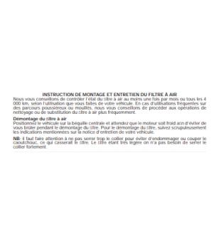FILTRE A AIR MALOSSI E13 PHBH/MIKUNI/KEIHIN D.42/50/60 MOUSSE ROUGE