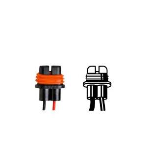 PORTE AMPOULE/LAMPE FLOSSER 12V H8/H9/H11 - AVEC CABLE SCOOTER sur le site du spécialiste des deux roues O-TAKET.COM