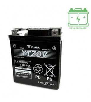 BATTERIE YTZ8V YUASA 12V 7AH GEL SANS ENTRETIEN LG113 L70 H130 - ACTIVE USINE Batteries sur le site du spécialiste des deux r...