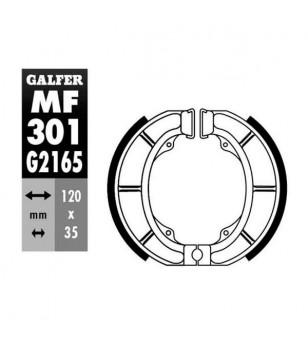 MACHOIRE FREIN 09 GALFER AV/AR DERBI ATLANTIS / PADDOCK / SUZUKI ADRESS / KATANA / ZILLION (120X35) Mâchoires sur le site du ...