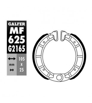 MACHOIRE FREIN 18 GALFER AV/AR DERBI 50 FENIX / VAMOS / VARIANT (105X25) Mâchoires sur le site du spécialiste des deux roues ...