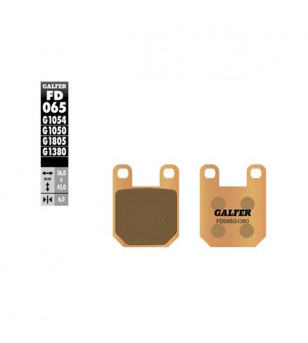 PLAQUETTE FREIN  06 GALFER G1380 ADAPT. AV AJP SENDA/XPOWER/TKR/LUDIX/ AR XLIMIT (PR)