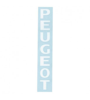 AUTOCOLLANT MARQUE PEUGEOT BLANC / FOURCHE (1 PIECE 190X25MM) Autocollants sur le site du spécialiste des deux roues O-TAKET.COM