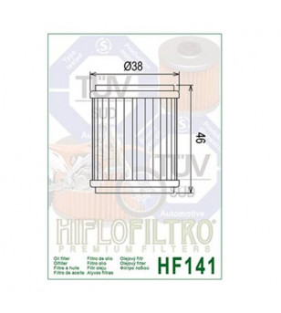 FILTRE A HUILE MAXI SCOOTER/MOTO HIFLOFILTRO HF141 ADAPT. 125 SKYCRUISER/XMAX/XCITY/YZ-F