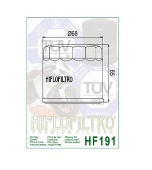 FILTRE A HUILE MAXI SCOOTER/MOTO HIFLOFILTRO HF191 ADAPT. 400 METROPOLIS/955 SPEED TRIPLE