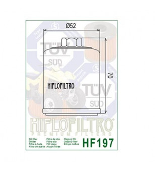 FILTRE A HUILE MAXI SCOOTER/MOTO HIFLOFILTRO HF197 ADAPT. PGO/HYOSUNG/QUADRO