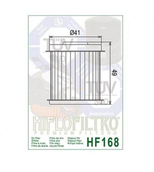 FILTRE A HUILE MAXI SCOOTER HIFLOFILTRO HF168 ADAPT. 125 DAELIM S1/S2/OTELLO/FREEWING