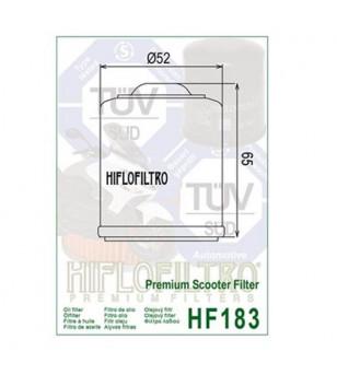 FILTRE A HUILE MAXI SCOOTER HIFLOFILTRO HF183 ADAPT. 125/250/300 VESPA/FLY/X7/X8/X9/MP3