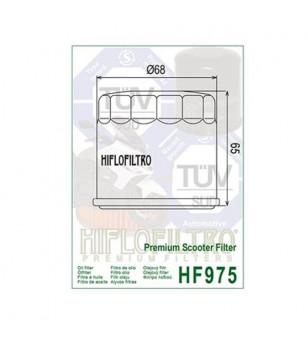 FILTRE A HUILE MAXI SCOOTER HIFLOFILTRO HF975 ADAPT. 650 SUZUKI BURGMAN 02-18