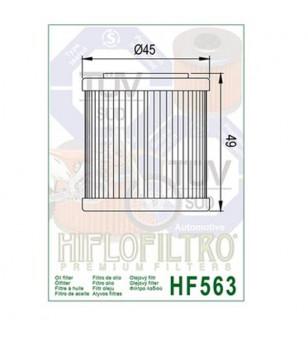 FILTRE A HUILE MOTO HIFLOFILTRO HF563 ADAPT. 125 APRILIA/DERBI