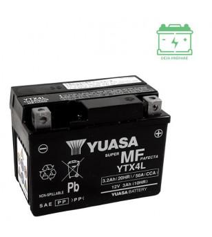 BATTERIE YTX4L YUASA 12V / 3AH SANS ENTRETIEN - AGM ACTIVE USINE Batteries sur le site du spécialiste des deux roues O-TAKET.COM