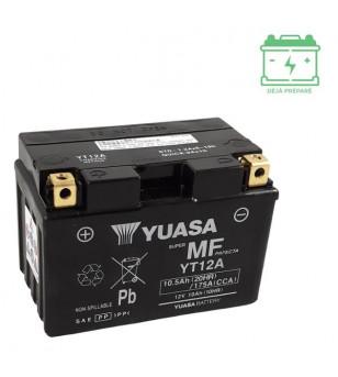 BATTERIE YT12A YUASA 12V10AH SANS ENTRETIEN - AGM ACTIVE USINE Batteries sur le site du spécialiste des deux roues O-TAKET.COM