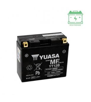 BATTERIE YT12B YUASA 12V10AH SANS ENTRETIEN - AGM ACTIVE USINE Batteries sur le site du spécialiste des deux roues O-TAKET.COM
