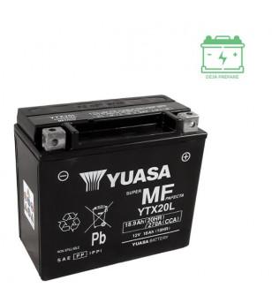 BATTERIE YTX20L YUASA 12V18AH SANS ENTRETIEN - AGM ACTIVE USINE Batteries sur le site du spécialiste des deux roues O-TAKET.COM