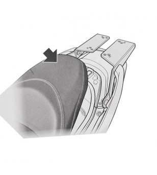 PORTE BAGAGE/SUPPORT TOP CASE MAXI SCOOTER SHAD ADAPT. HONDA 125 FORZA 15-20