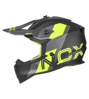 CASQUE CROSS NOX N633 VIPER NOIR MAT/JAUNE FLUO T57-58 M
