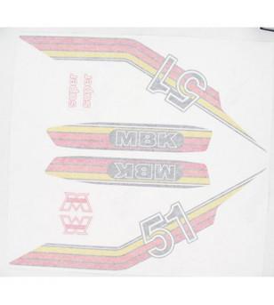 AUTOCOLLANT CYCLO MARQUE MBK ROUGE/JAUNE/ORANGE ADAPT. MBK 51/MOTOBECANE -PLANCHE 10 PCS CYCLO/SOLEX sur le site du spécialis...