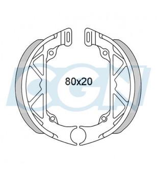MACHOIRE FREIN CYCLO AV/AR ADAPT. MBK 51 NID D'ABEILLE - D80X20 - (PR)