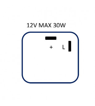 CENTRALE CLIGNOTANT UNIVERSELLE FLOSSER 2 FILS (0.1 A 25 AMPERES) POUR LEDS
