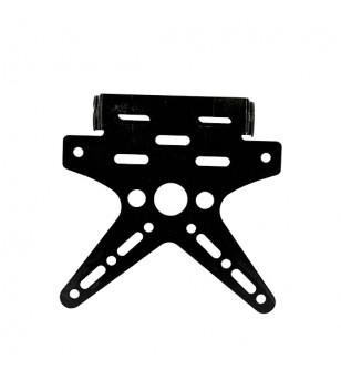 SUPPORT DE PLAQUE CNC ORIENTABLE BLACKWAY ALUMINIUM NOIR MOTO sur le site du spécialiste des deux roues O-TAKET.COM