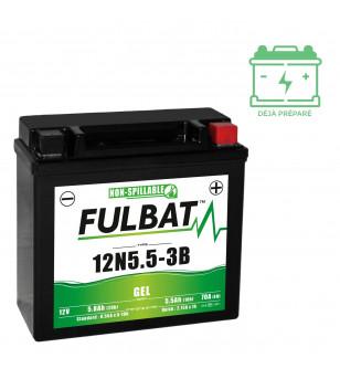 BATTERIE 12N5.5-3B FULBAT 12V5.5AH LG135 L60 H130 - GEL  - ACTIVEE USINE
