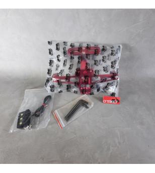 Support de palque articulé aluminium + support clignotants universel Accueil sur le site du spécialiste des deux roues O-TAKE...
