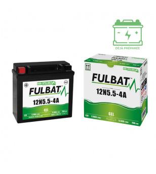 BATTERIE 12N5.5-4A FULBAT 12V5.5AH LG135 L60 H130 (GEL - SANS ENTRETIEN) - ACTIVEE USINE