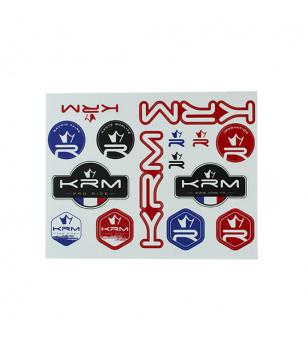 AUTOCOLLANT KRM PRO RIDE (PLANCHE A4 27.5X21CM - 15 AUTOCOLLANTS) SCOOTER sur le site du spécialiste des deux roues O-TAKET.COM