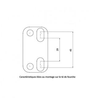 PONTET REHAUSSE GUIDON MECABOITE/MOTO KRM PRO RIDE ALU POUR GUIDON 28.6MM - NOIR (X2)